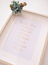 Load image into Gallery viewer, Our Love Story | A4 foil print