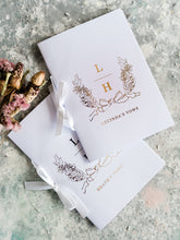 Load image into Gallery viewer, Beautiful Rose gold Foiled Vow Booklets