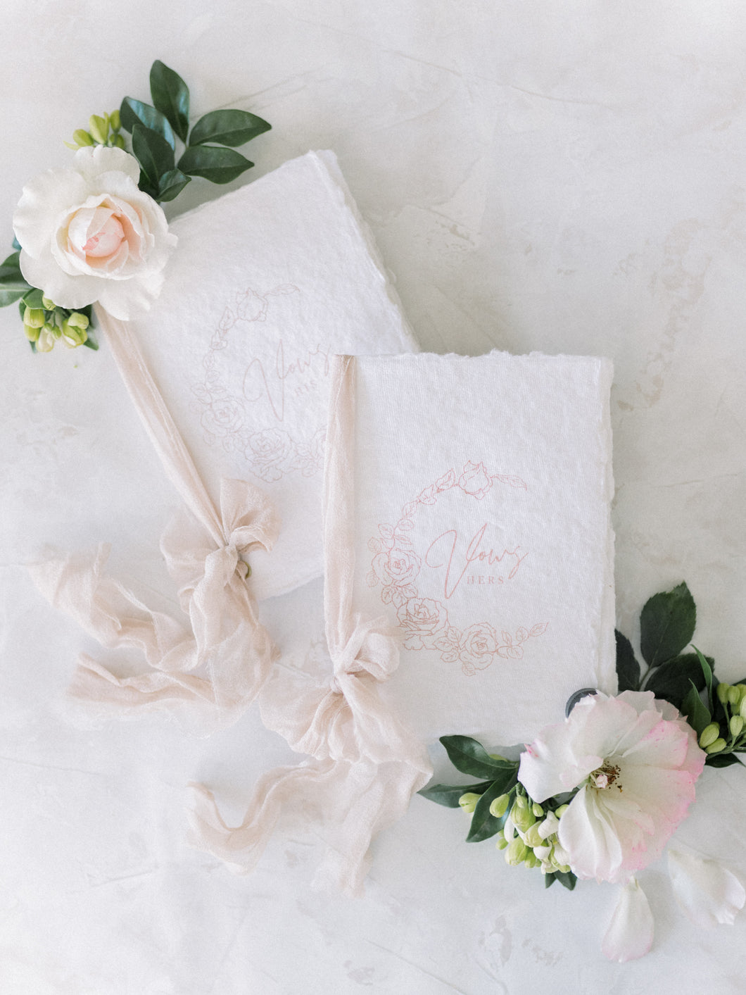 Handmade paper Vow Booklets