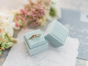 Velvet Ring Box | Seafoam