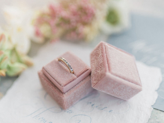 Velvet Ring Box | Vintage Rose