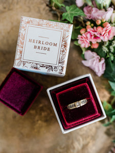 SALE! Trio of Velvet Ring Boxes