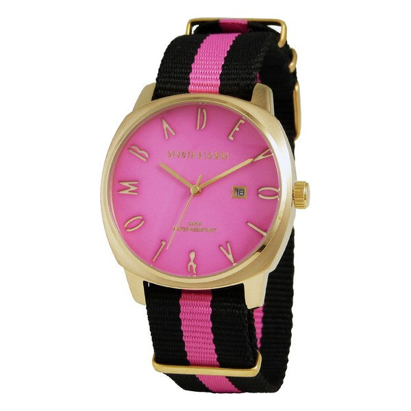 Men's Watch Devota & Lomba DL008MSPBK-PK-02PINK (42 mm)