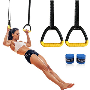 Gymnastics Rings with Adjustable Straps - TestYourWill
