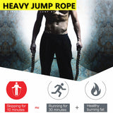 Heavy Jump Rope with Gloves - TestYourWill