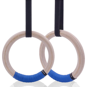 Wood Gymnastic Rings 25/28mm - TestYourWill