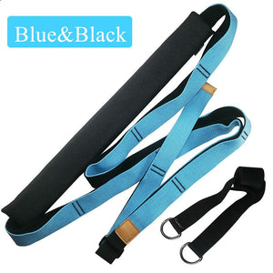 Yoga Strap Exercise Gym Belt Increase Flexibility for Yoga Pilates Ballet Stretching Waist Leg Resistance Fitness Bands - TestYourWill