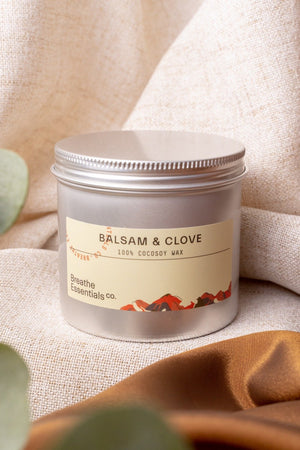 Balsam & Clove Cocosoy Scented Candle 200ML | Breathe Essentials Co