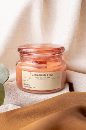 Geranium Leaf Cocosoy Scented Candle | Breathe Essentials Co