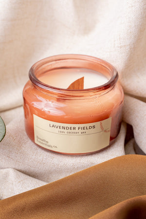 Lavender Fields Cocosoy Scented Candle 300ml | Breathe Essentials Co