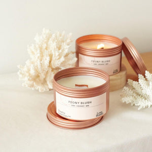 Love, Bonito Peony Blush Suede Candle | Breathe Essentials Co