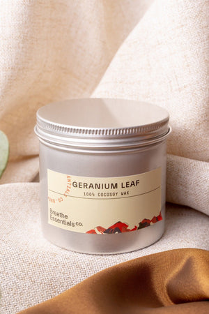 Geranium Lead Cocosoy Scented Candle 200ML | Breathe Essentials Co