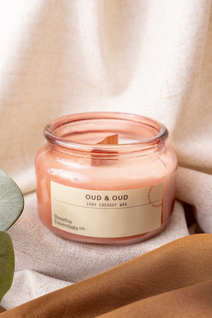 Oud & Oud Cocosoy Essential Oil Candle | Breathe Essentials Co