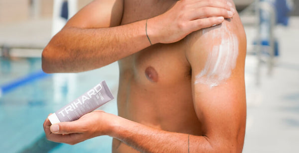 Use a pre and post-swim body lotion to create a protective barrier around your skin