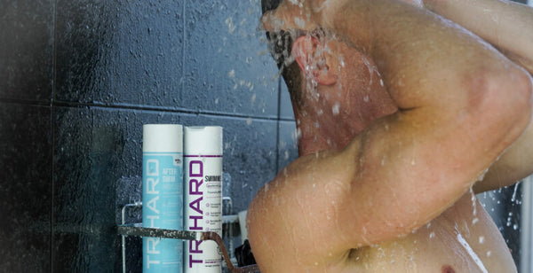 Take a shower with fresh water to minimize chlorine absorption