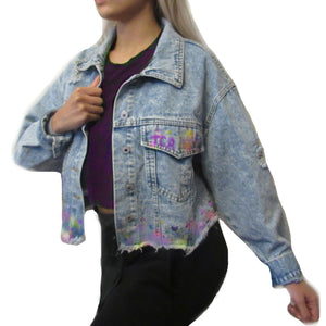 Painted Acid Wash Denim Jacket