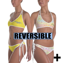Load image into Gallery viewer, Reversible Tie-Dye/Yellow Bikini