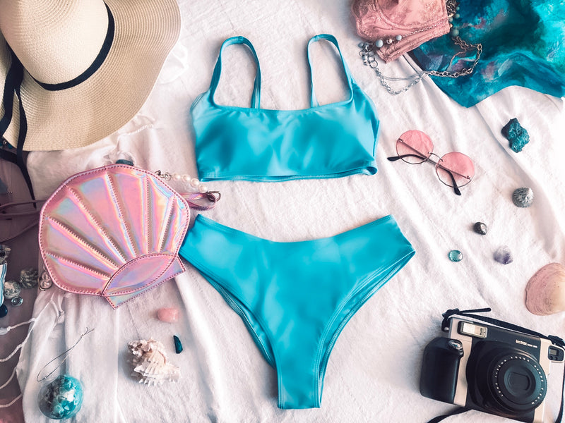 Siren Blue Two Piece Swimsuit