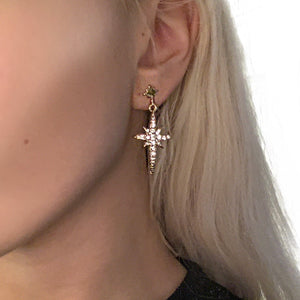 Star & Moon Drop Earrings