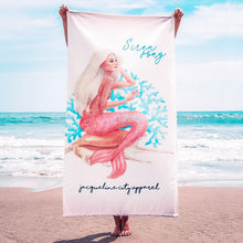 Load image into Gallery viewer, Siren Song Beach Towel