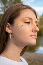 Load image into Gallery viewer, Star & Moon Drop Earrings