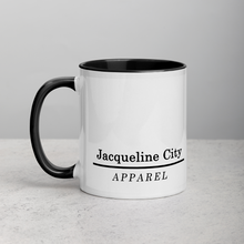 "Load image into Gallery viewer, ""Greetings from Jacqueline City"" 11 oz Mug"