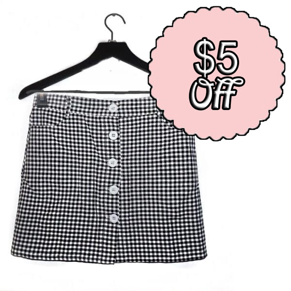 Margo Roth Gingham Skirt