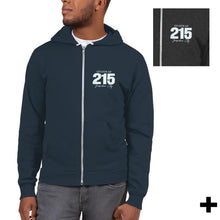 Load image into Gallery viewer, 215 Zip-Up Hoodie Sweatshirt