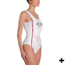 Load image into Gallery viewer, Pink Marble One-Piece Swimsuit