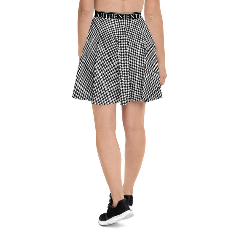 Mixed Print Skater Skirt