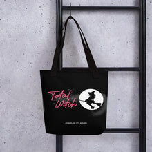 "Load image into Gallery viewer, ""Total Witch"" Black Tote Bag"