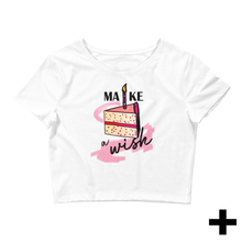 "Load image into Gallery viewer, Women's ""Make A Wish"" T-shirt"