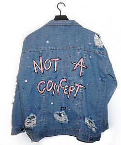 Not A Concept Painted Denim Jacket