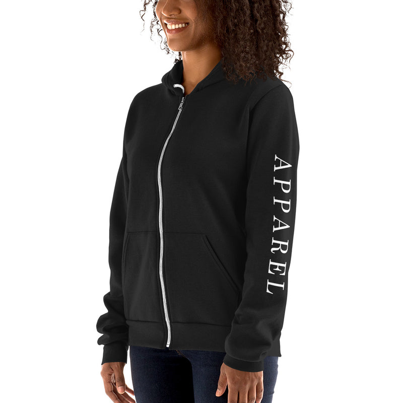 APPAREL Minimal Zip Up Hoodie