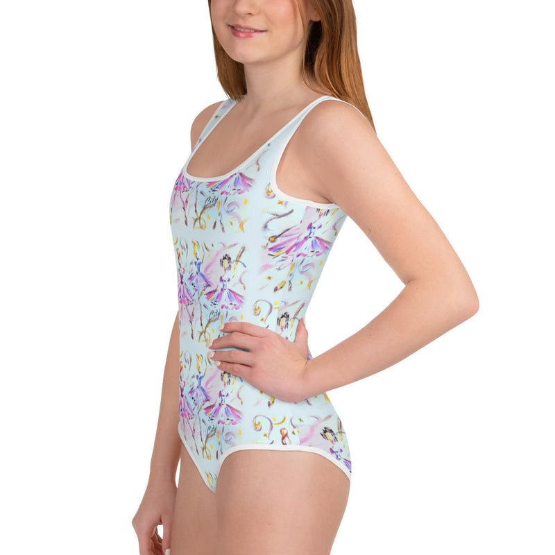 YOUTH: Blue Bodysuit in BALLET CLASS