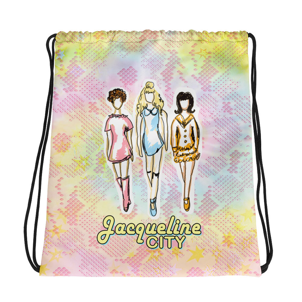 Retro Babes Drawstring Bag