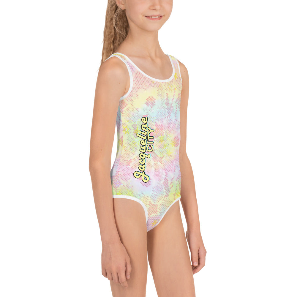 Pastel Tie-dye Kids Swimsuit