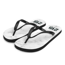 Load image into Gallery viewer, Black Marble 215 Flip-Flops