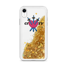 Load image into Gallery viewer, CITY Heart Liquid Glitter Phone Case