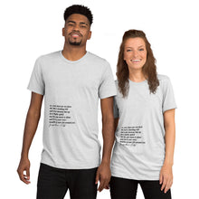 Load image into Gallery viewer, Poem Vintage Unisex T-shirt
