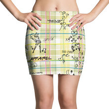 "Load image into Gallery viewer, Yellow ""Pretty in Plaid"" Mini Skirt"