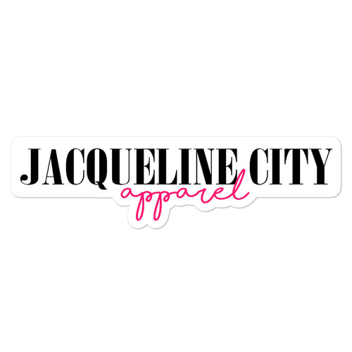 Jacqueline City Birthday Logo stickers
