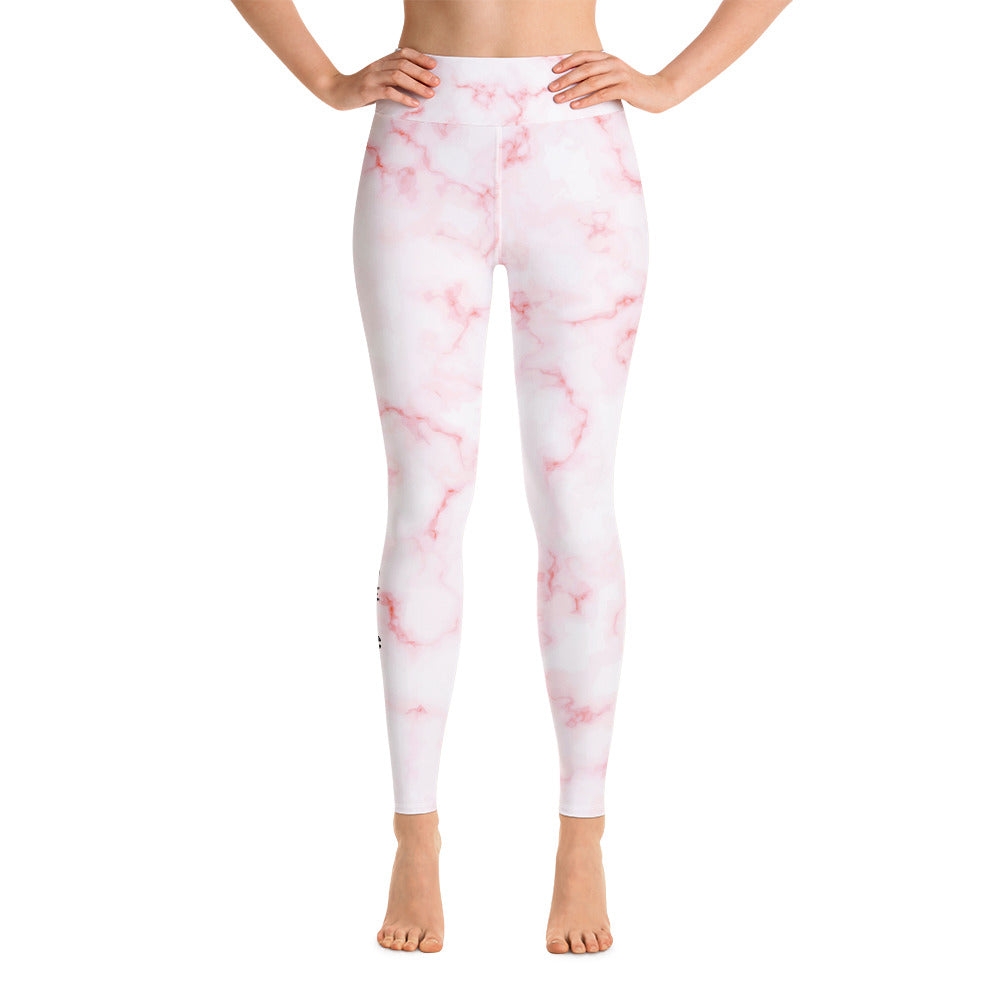 Pink Marble Yoga Leggings Co-Ord