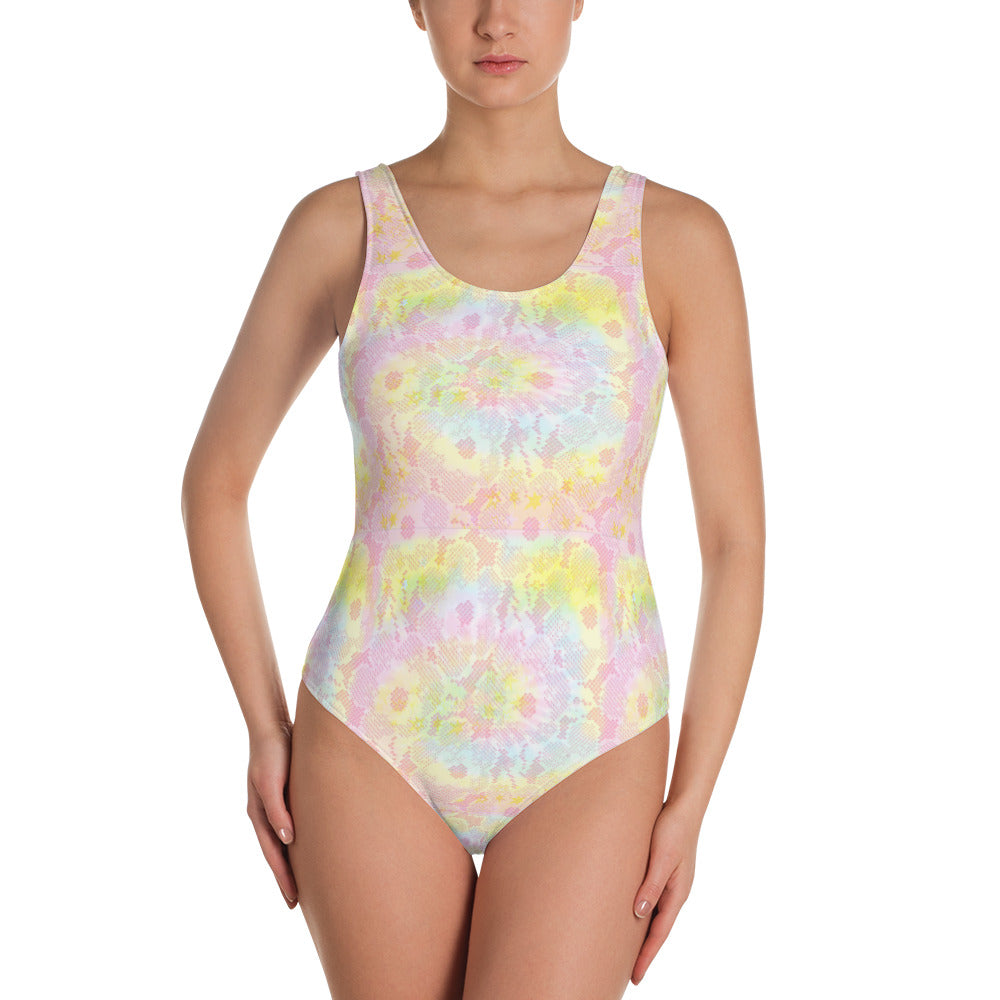 Tie-dye One-Piece Swimsuit