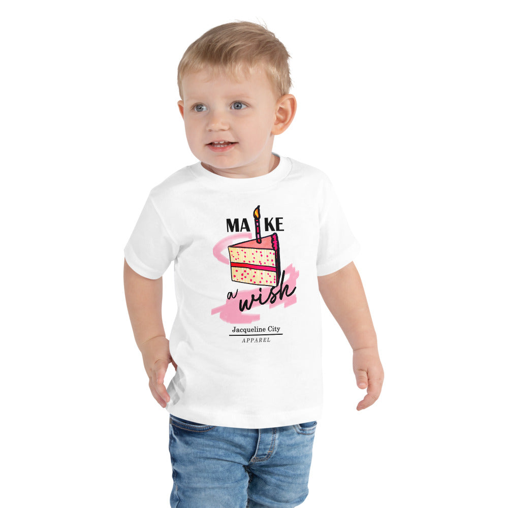 "Toddler ""Make A Wish"" Short Sleeve Shirt"