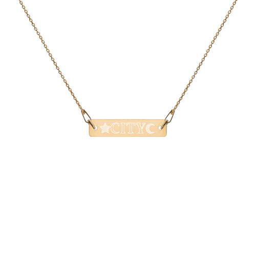 CITY Engraved Bar Necklace