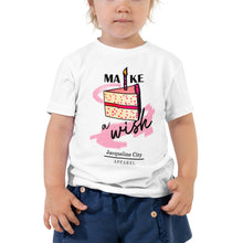"Load image into Gallery viewer, Toddler ""Make A Wish"" Short Sleeve Shirt"