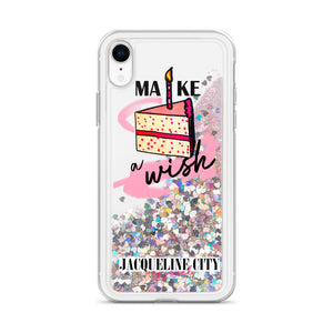 """Make A Wish"" Liquid Glitter iPhone Case"