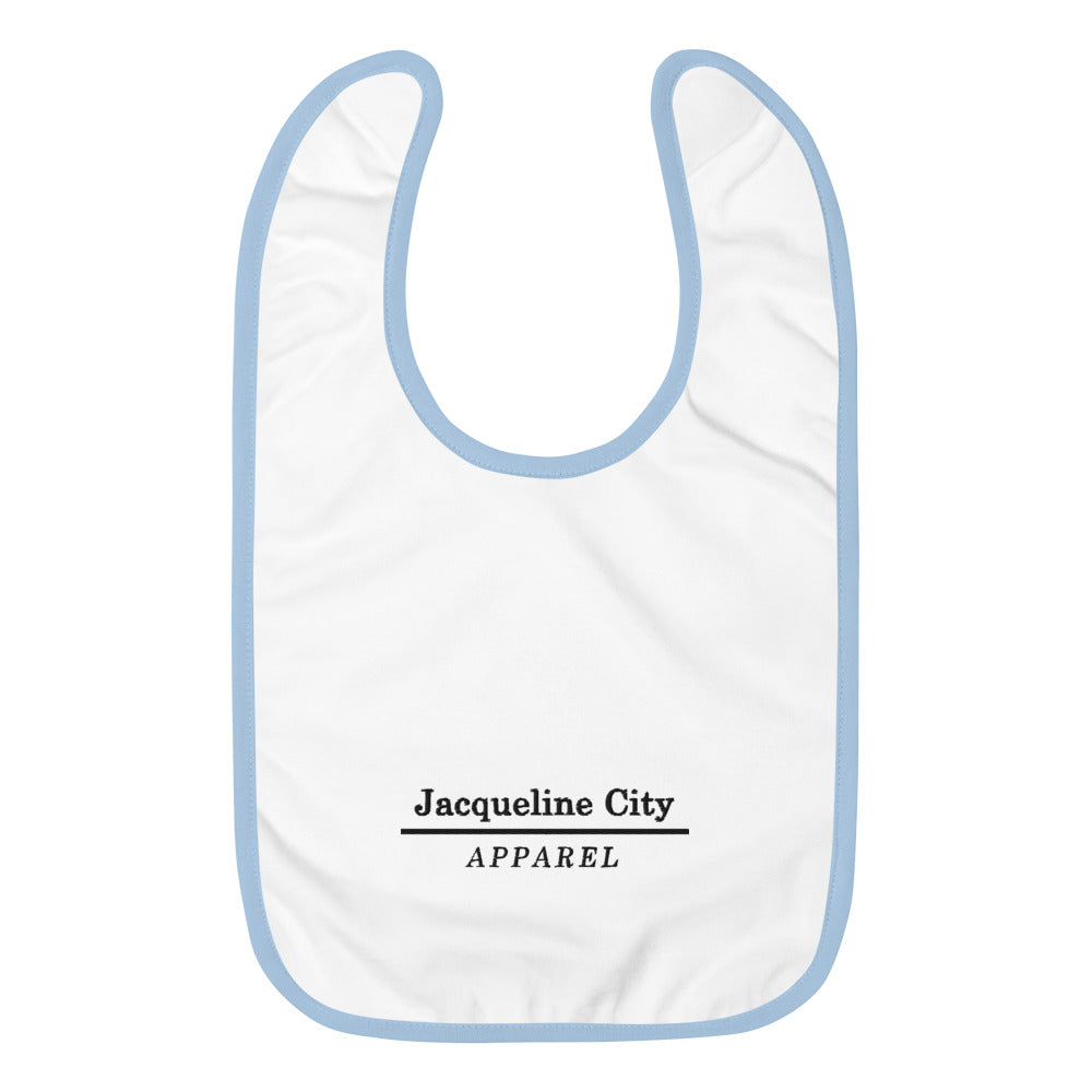 Minimalist Embroidered Baby Bib