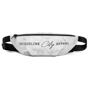 Black Marble Fanny Pack